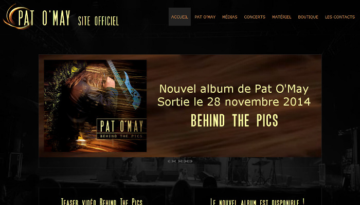 Site Web responsive de Pat O'May